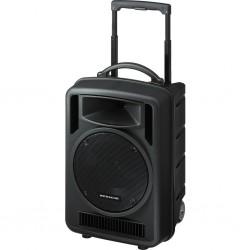 Portabel högtalare på hjul med MP3-spelare, SD-kortläsare och USB - Monacor TXA-1020USB