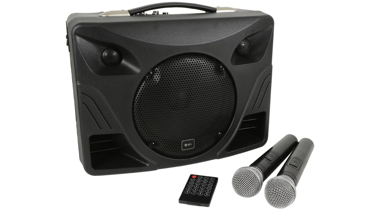Batteridriven portabel högtalare med två trådlösa mikrofoner - Adastra  Delta 50 -Elektronik24 e324e318e54eb