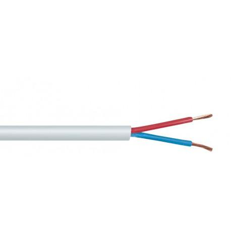Vit högtalarkabel, löpmeter. Diameter: 1,5 mm²