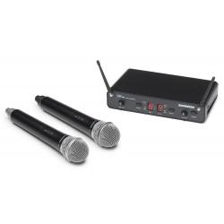 Tvåkanalsmottagare med 2 trådlösa mikrofoner - Samson consert 288 Dual Hand