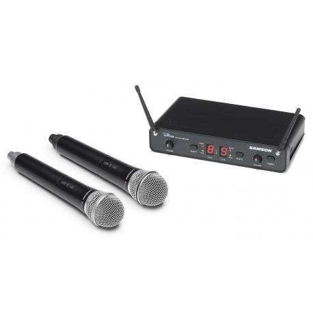 Tvåkanalsmottagare med 2 trådlösa mikrofoner - Samson concert 288 Dual Hand