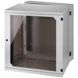 Rackskåp vit, 12 höjdenheter med låsbar dörr - RACK-12WP