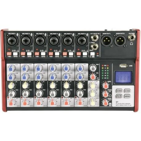 Mixerbord med bluetooth och USB - Citronic CSM-8 Mixer