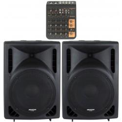 Ljudanläggning för aerobics med bra bas - Medium + USB för livestreaming