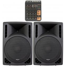 Ljudanläggning för Aerobics med extra mycket bas - Large - Subbas och rackmonteringsbar mixer