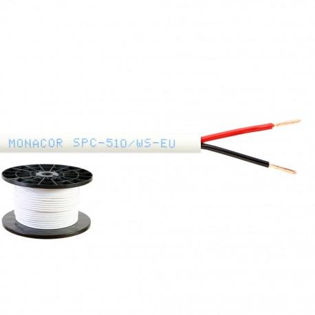 Högtalarkabel 1 mm, vit - SPC-510/WS-EU Högtalarkabel 2x1.0mm2 100m