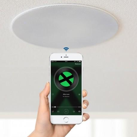 Takhögtalare badrum Wifi - Lithe Audio WiFi All-In-One IP44 Multi-Room Bathroom Ceiling Speaker (Par mono/stereo)