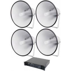 Ljudanläggning fotbollsplan - Ljudsystem utomhus, medium - Tal