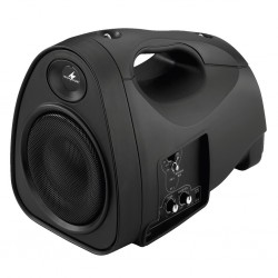 Billigaste bärbara högtalaren med batteridrift och trådlös mottagare - Monacor TXA-110