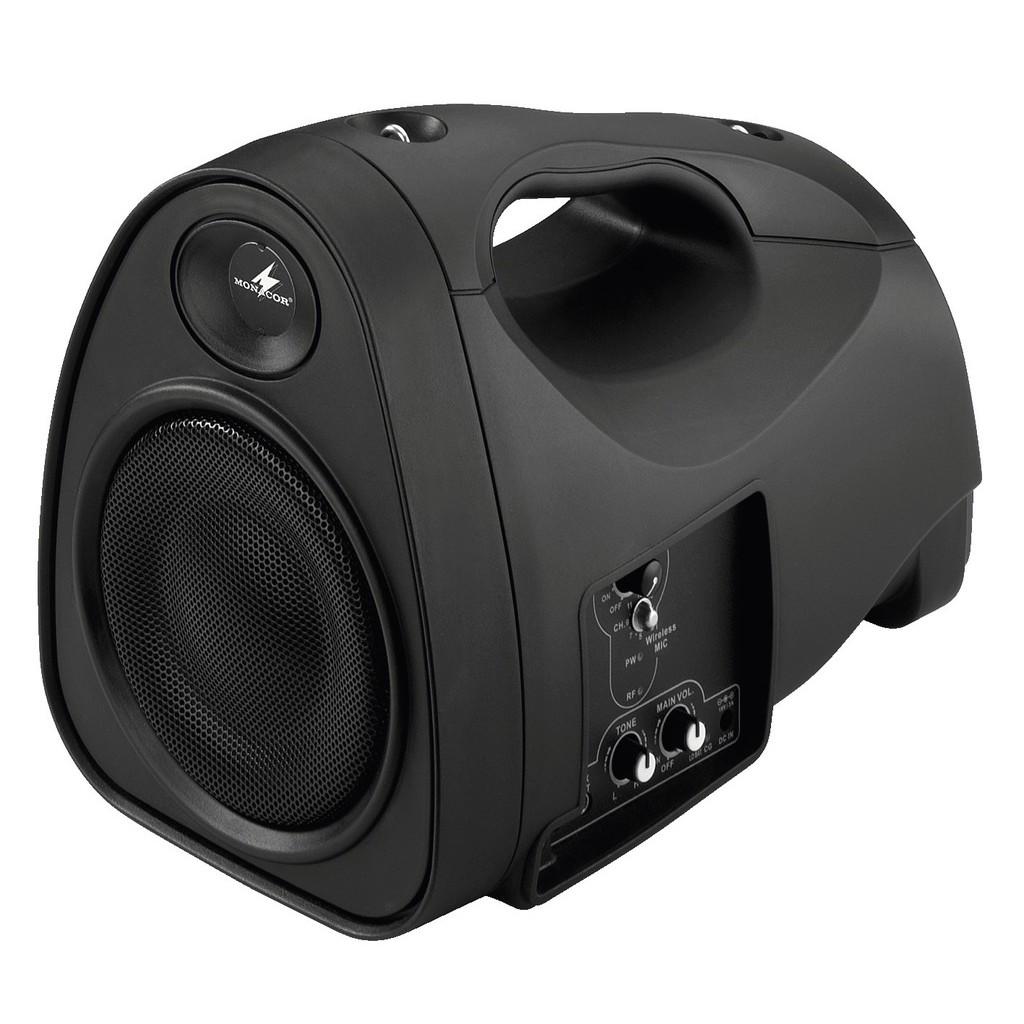 Billigaste bärbara högtalaren med batteridrift och trådlös mottagare -  Monacor TXA-110 d4bba7bd1ddb9