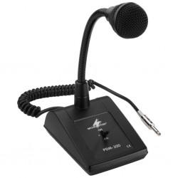 Bordsmikrofon med svanhals och 6,3 mm telekontakt - Monacor PDM-300