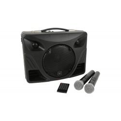 Batteridriven portabel högtalare med två trådlösa mikrofoner - Adastra Delta 50